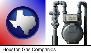 Houston, Texas - a residential natural gas meter