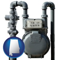 alabama a residential natural gas meter