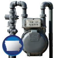 iowa a residential natural gas meter