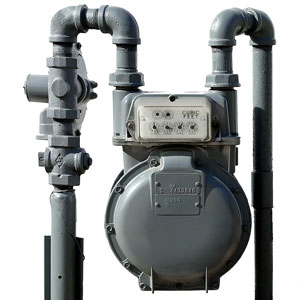 a residential natural gas meter